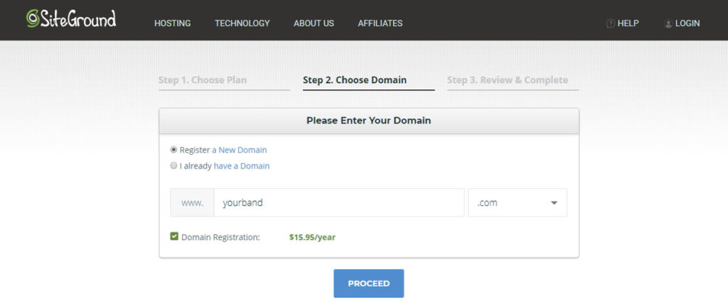Registering Your Band's Domain Name