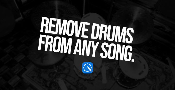 Ways to remove drums from any song easily